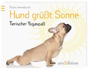 Hund grüßt Sonne
