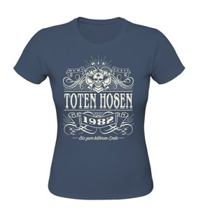 Alte Schule-Girlie T-Shirt(M)Denim Blue