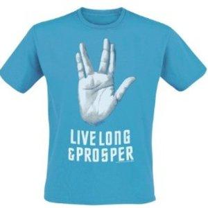 Star Trek - Live Long & Prosper - T-Shirt - Türkis - Größe L