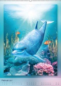 Delfine - Kalender (Wandkalender 2017 DIN A2 hoch)