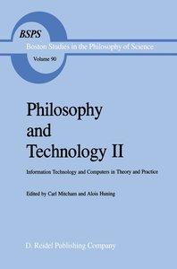 Philosophy and Technology II