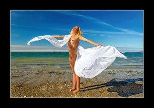 Anna nue à la plage (Livre poster DIN A4 horizontal)