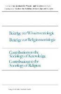 Beiträge zur Wissenssoziologie, Beiträge zur Religionssoziologie