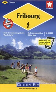 KuF Schweiz Wanderkarte 31 Fribourg 1 : 60 000