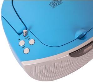 Tragbares CD/Radio CD55 - Kids blau - zum Schließen ins Bild klicken