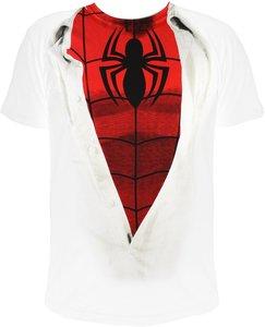 Spider-Man - SUIT - T-Shirt - Weiss/Rot - Größe L