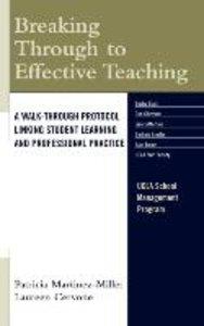 Breaking Through to Effective Teaching