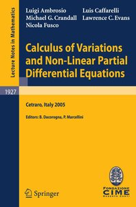 Calculus of Variations and Nonlinear Partial Differential Equati