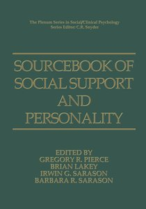 Sourcebook of Social Support and Personality