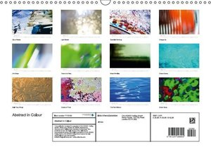 Abstract in Colour (Wall Calendar 2015 DIN A3 Landscape)