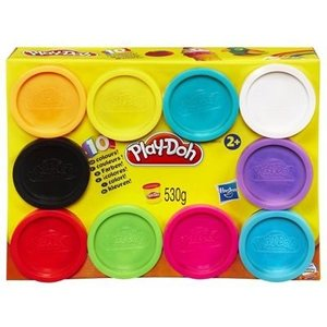 Hasbro 29413848 - Play-Doh Farbenkiste, 10 Dosen Farb-Knete