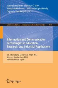 Information and Communication Technologies in Education, Researc