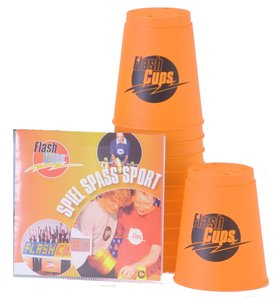 Flash Cups 1004 - Speed Stacking: FlashCups orange, 12 Stück, mi