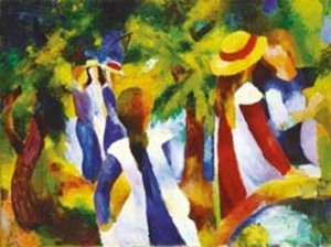 Ravensburger 14024 - August Macke: Mädchen unter Bäumen, 300 Tei