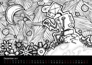 Bezaubernde Mini-Monster - Ein Ausmal-Kalender (Wandkalender 201