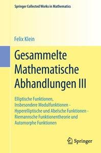 Gesammelte Mathematische Abhandlungen III