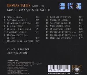 Tallis Spem In Alium,Music For Queen