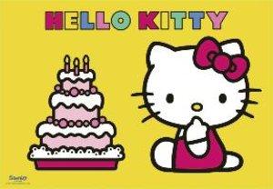 Hello Kitty feiert Geburtstag. Puzzle 2 X 12 Teile