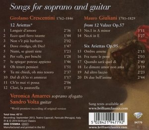 Songs for Soprano and Guitar