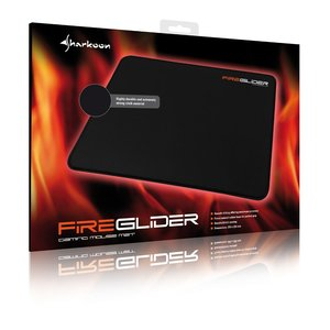 Sharkoon FireGlider - Gaming Mat (Mauspad) - Black
