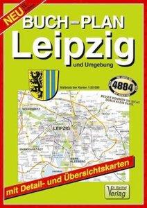 Leipzig und Umgebung 1 : 20 000. Buchstadtplan
