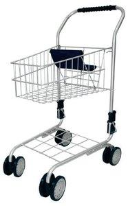 Bayer Design 75000 - Einkaufswagen Kinder-Kauffladen, silber-bla