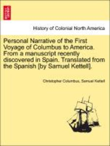 Personal Narrative of the First Voyage of Columbus to America. F