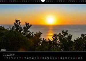 Sardinia Panoramic Calendar / UK-Version (Wall Calendar 2015 DIN