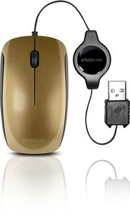 Speedlink SL-6166-GD MINNIT Mobile Mouse - Flexcable, gold
