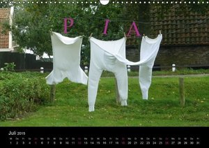 PIA- Namenskalender (Wandkalender 2015 DIN A3 quer)