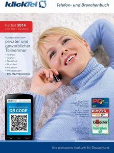 klickTel Telefon- und Branchenbuch inkl. Rückwärtssuche Herbst 2
