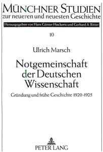 Notgemeinschaft der Deutschen Wissenschaft