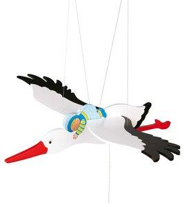 Goki 52991 - Schwingtier: Storch mit Baby, 53cm
