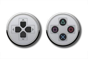PlayStation - Buttons Manschettenknöpfe/Cufflinks, chrome (Offiz