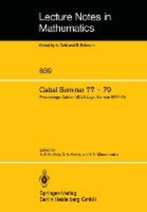 Cabal Seminar 77 - 79