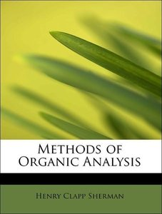 Methods of Organic Analysis