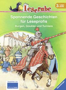 Leserabe: Spannende Geschichten für Leseprofis. Burgen, Gaukler