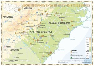 Bourbon-Rye-Whiskey Distilleries in North Carolina-South Carolin