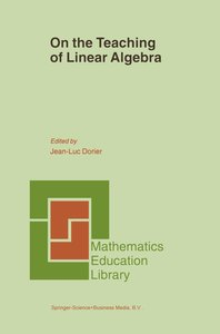 On the Teaching of Linear Algebra