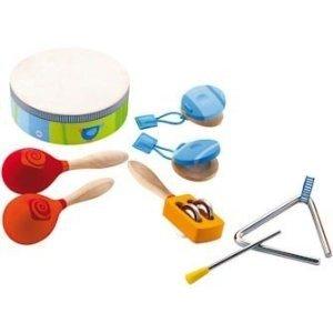 Sevi 82014 - Perkussion-Set: Trommel, Rassel, Triangel, Kastagne