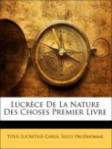 Lucrèce De La Nature Des Choses Premier Livre
