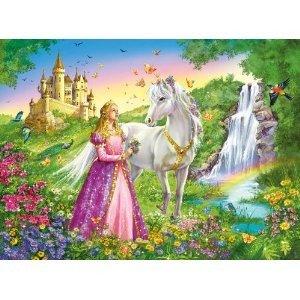 Prinzessin mit Pferd. Puzzle 200 Teile XXL