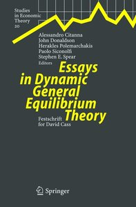 Essays in Dynamic General Equilibrium Theory