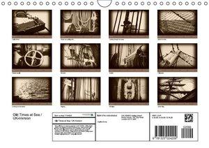 Old Times at Sea / UK Version (Wall Calendar 2015 DIN A4 Landsca