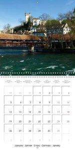 LUCERNE Historic Switzerland (Wall Calendar 2015 300 × 300 mm Sq