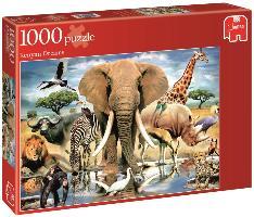 Die Tiere Afrikas - 1000 Teile - zum Schließen ins Bild klicken
