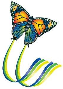 Günther 1151 - Kinderdrachen Butterfly, 95 x 63 cm, inkl. Schnur