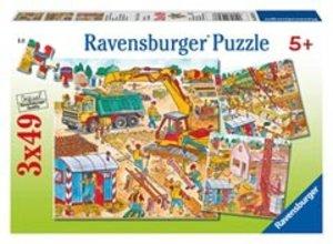 Ravensburger 09307 - Beim Hausbau, Puzzle, 3x49 Teile