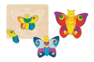 Goki 57899 - Schichtenpuzzle Schmetterling
