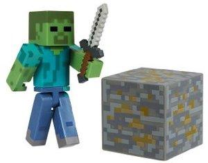 Minecraft 16509 - Zombie, Spielfigur mit Zubehör